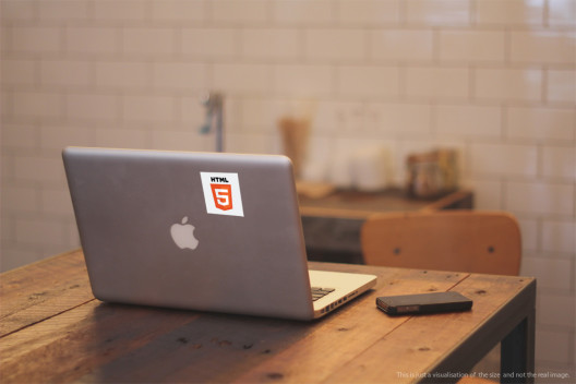 HTML5 Wordmark and Logo - Preview On Macbook