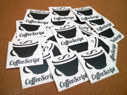 Coffee Script Stickers Perspective View
