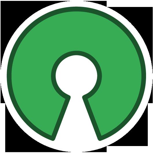 Open Source Circle Shaped Sticker