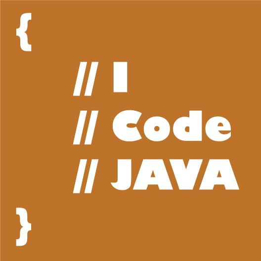 I Code Java Vinyl Sticker