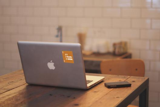 I Code Java Vinyl Sticker Macbook Preview
