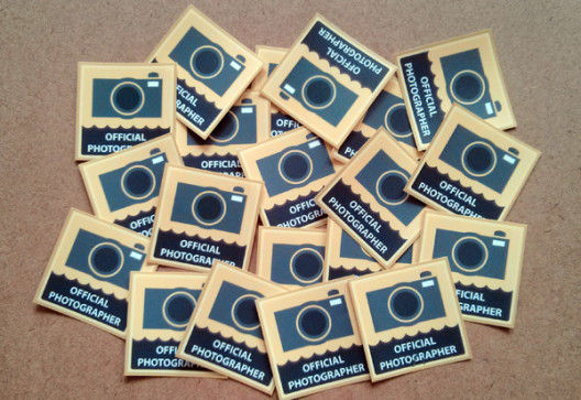 Official Photographer Stickers