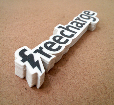 Freecharge Die Cut Vinyl Stickers