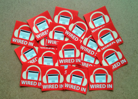 Wired In Stickers