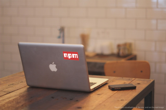 npm Vinyl Sticker Macbook Preview