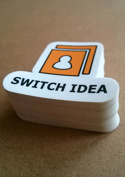 Switch Idea Die Cut Stickers