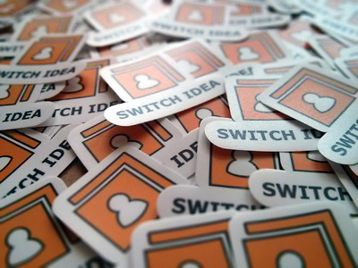 Switch Idea Matte Finish Stickers