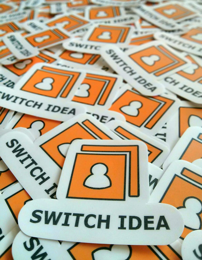 Switch Idea Vinyl Die Cut Stickers