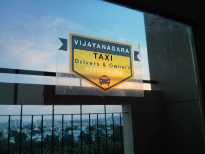 Vijayanagara Taxi Association Transparent Sticker Preview
