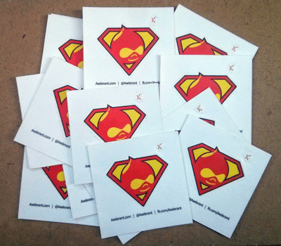 A new set of Drupalman stickers