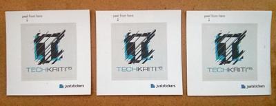 Techkriti IIT Kanpur Technology Festival Stickers