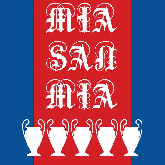 fc bayern munich mia san mia just stickers just stickers. Black Bedroom Furniture Sets. Home Design Ideas