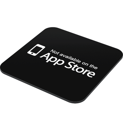 not-available-on-the-app-store-coaster-side