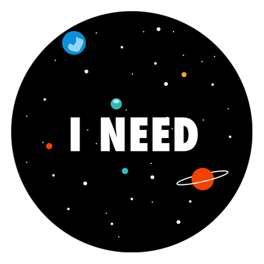 Need for space just stickers just stickers for Space decals