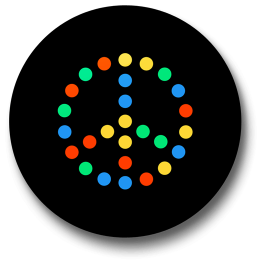 led-peace-badge