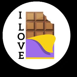 i-love-chocolate-badge
