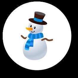 snowman-badge