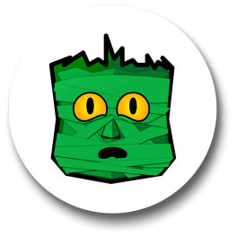 green-mummy-badge