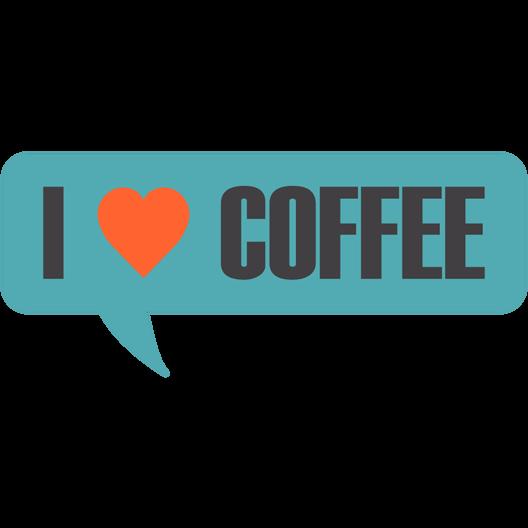 I love coffee sticker