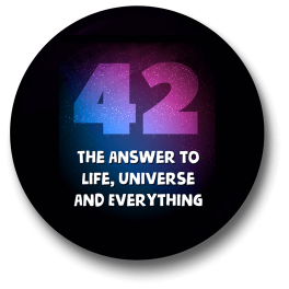 42-the-answer-to-life-universe-and-everything-badge