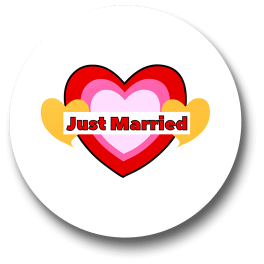 just-married-badge