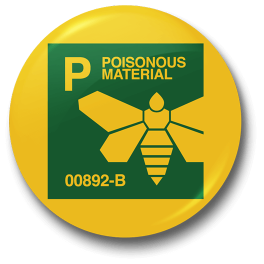 poisonous-material-badge
