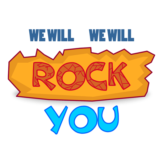 We Will Rock You Sticker - Just Stickers : Just Stickers