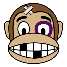monkey-beaten-up