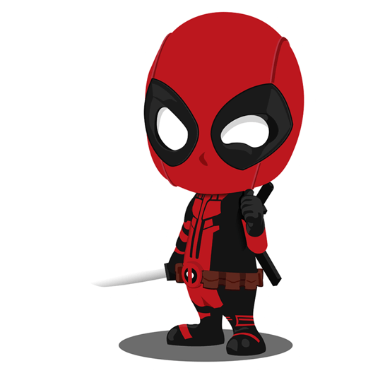 Baby deadpool sticker