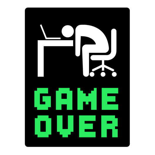 game over coder just stickers just stickers