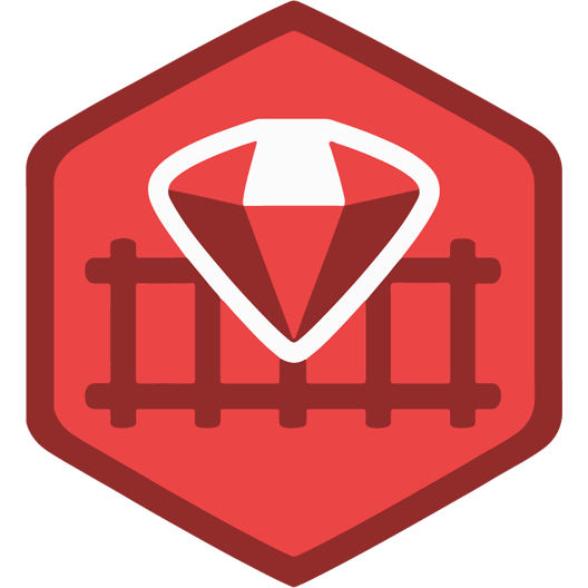 Red Ruby On Rails Sticker - Just Stickers : Just Stickers