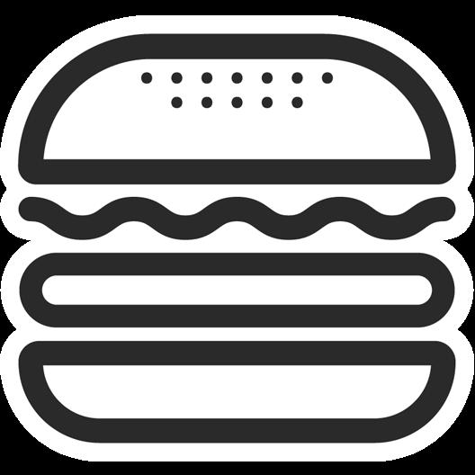 Burger Sketch Sticker Just Stickers Just Stickers