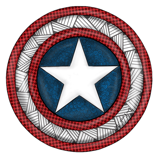 Captain America Shield Mandala Sticker - Just Stickers ...